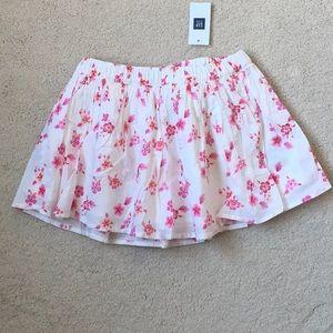 Girls Gap Floral Printed Skirt NWT XS 4-5